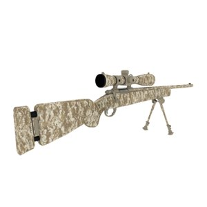 3ds m24 sniper rifle rigged