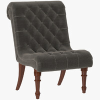 3d model of rswh1759 bottrell tufted chair