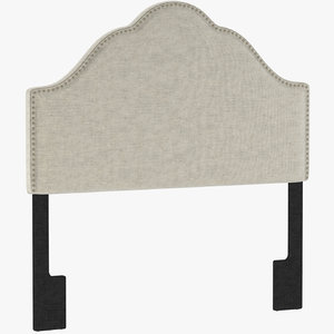 3d model glam upholstered arch headboard