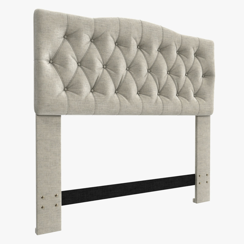 cleveland upholstered headboard 3d max