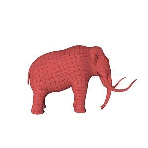 3d base mesh mammoth