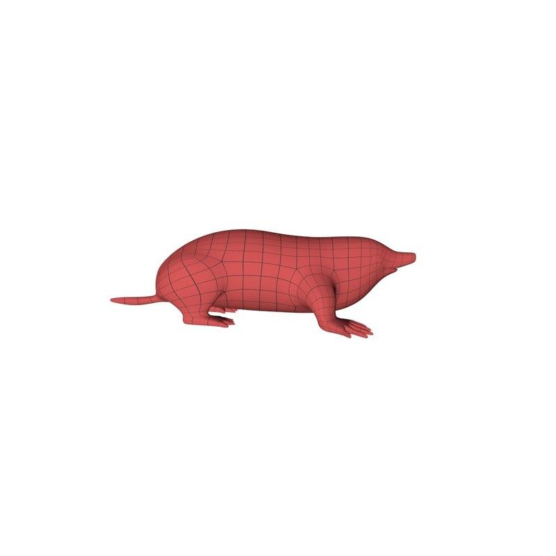 base mesh mole 3d c4d