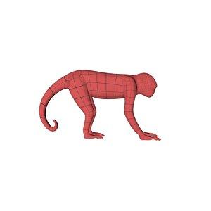 3d model base mesh monkey