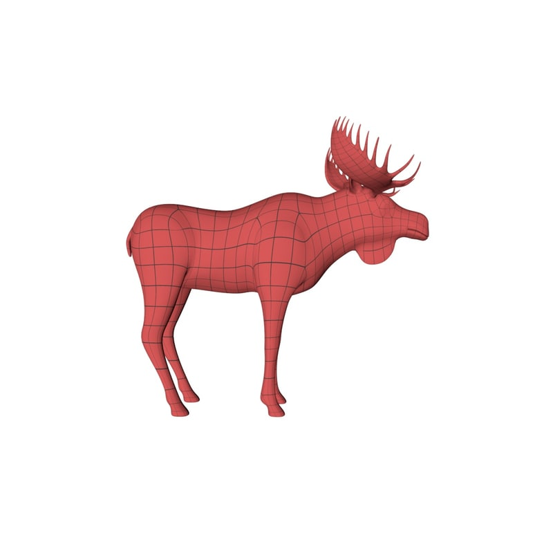 3d base mesh moose