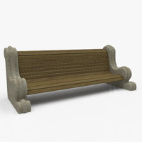 park bench 3d model