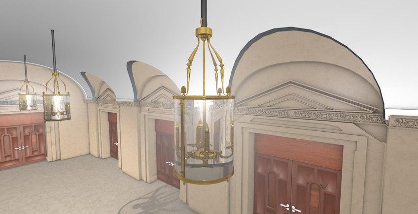 foyer room 3d model