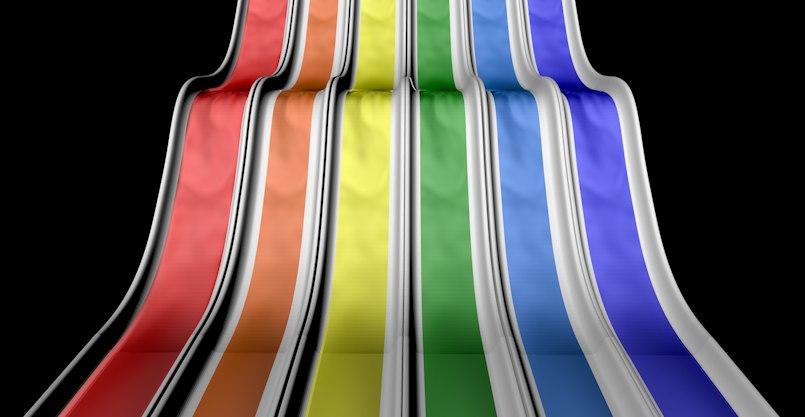 c4d slide colors rainbow