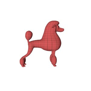 3d base mesh poodle model