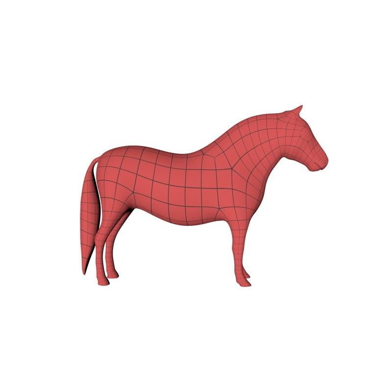 base mesh pony 3d model