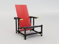 3d gerrit rietveld red blue model