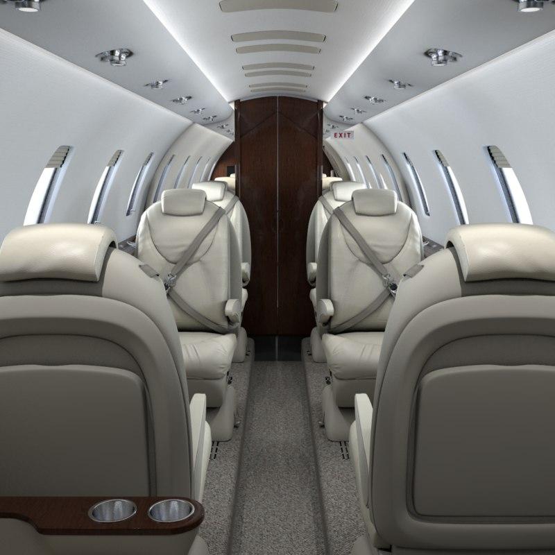 3d realistic cabin cessna citation