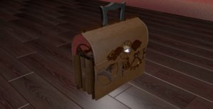 witch doctor bag 3d c4d
