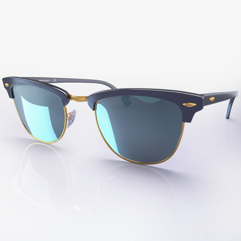sunglasses ban clubmaster rb3016 3d max