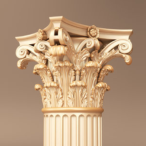 corinthian capital 3d obj