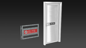 3d aluminum door model