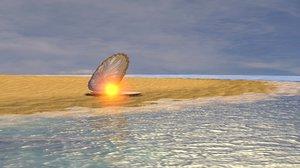 3d model of shore magical pearls