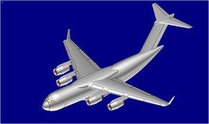obj usaf c-17 transport aircraft