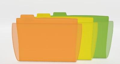 3d folder papers flying