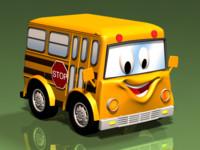 3d bus kids fun model