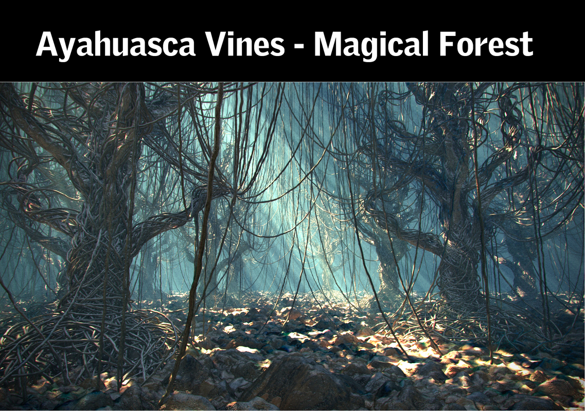 ayahuasca vines - magical 3d model