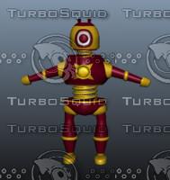 robo charecter 3d model
