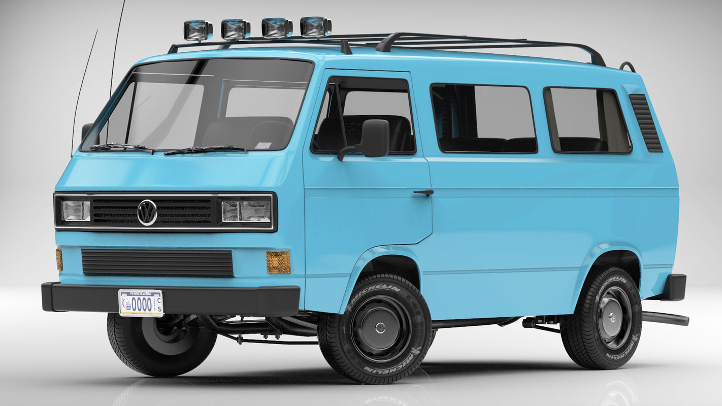 3d volkswagen transporter t3 van. Black Bedroom Furniture Sets. Home Design Ideas