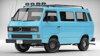 3d volkswagen transporter t3 van