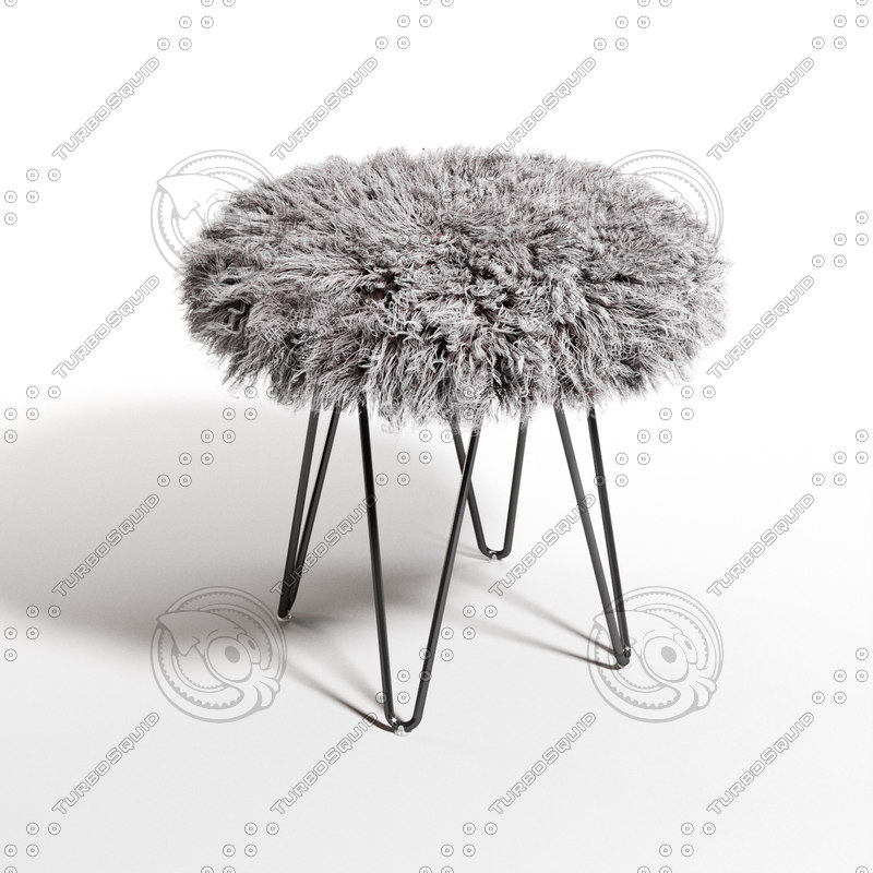 3d chair curly hairpin 18 model
