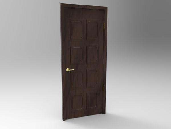 classic door knob 3d model