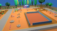 games playground playing 3d model
