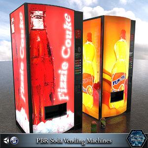 3d 3ds soda vending machines pbr