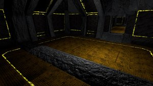 3d underground games space model