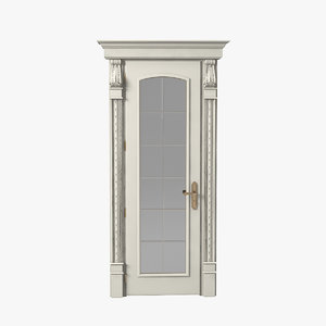luxury glass door 3d obj