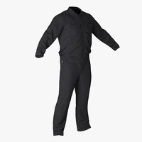long sleeve coveralls uniform 3d model