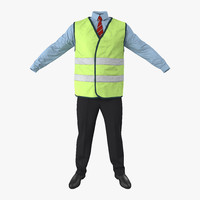 port engineer uniform 3d obj