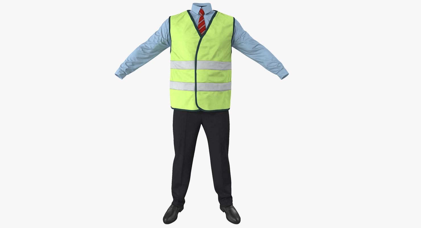 port engineer uniform 3d obj