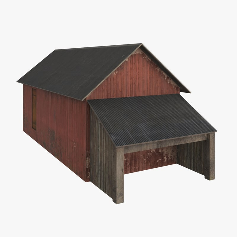 free hangar warehouse 3d model
