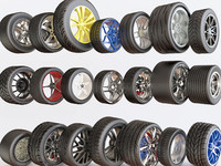 3d model of car wheels