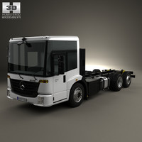 Mercedes-Benz Econic Chassis Truck 3axle 2013