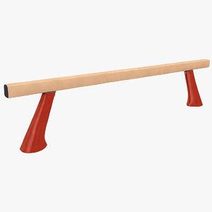 olympic balance beam 3d max