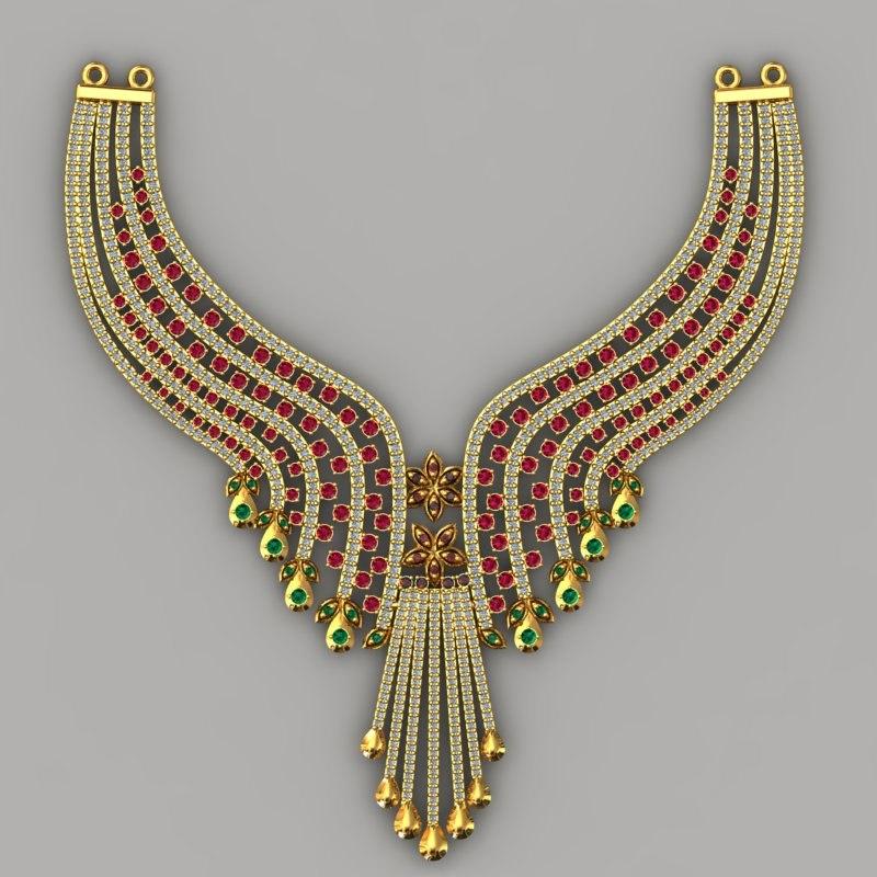necklace 3d obj