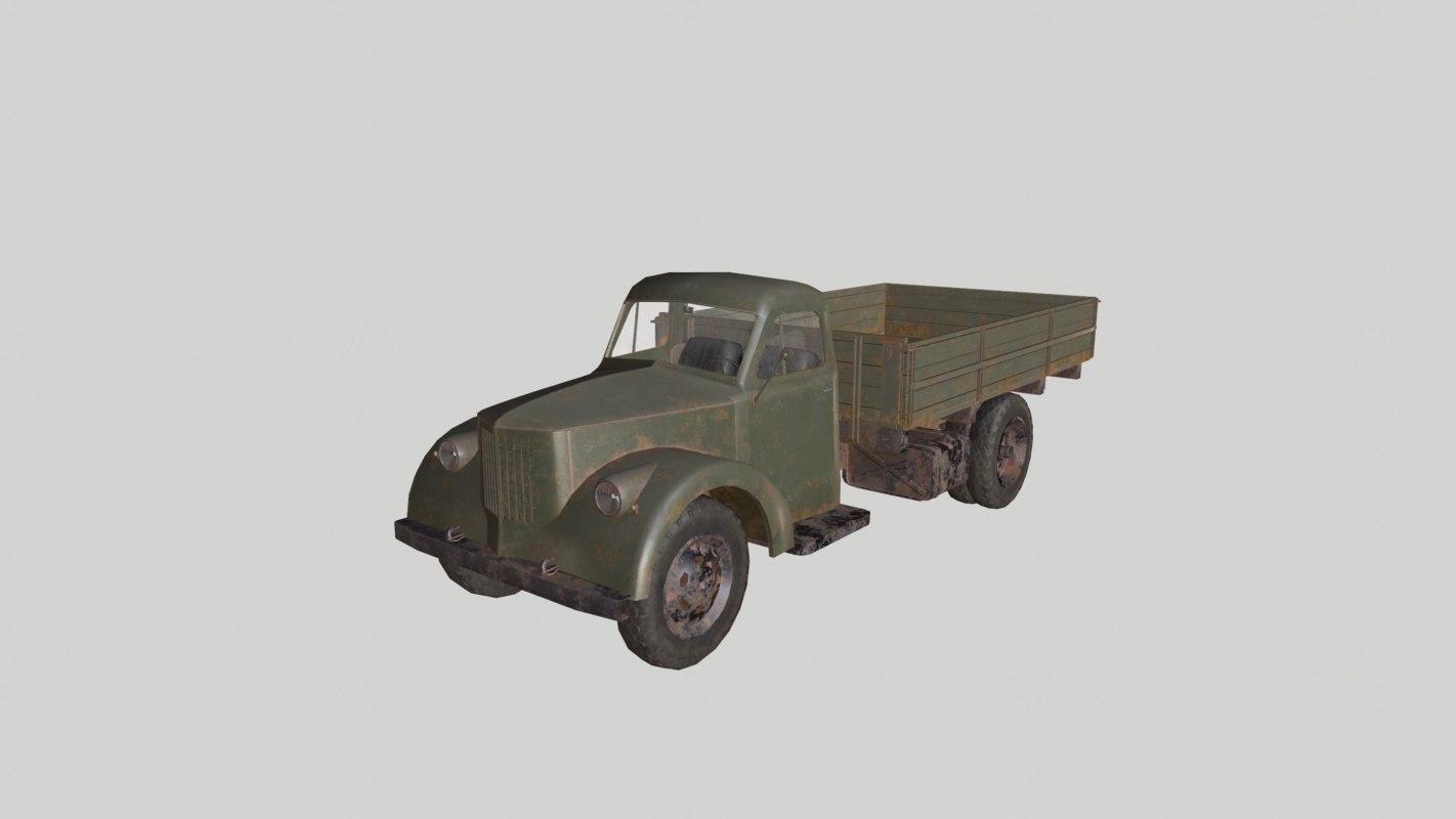 3d max lorry uralzis-355