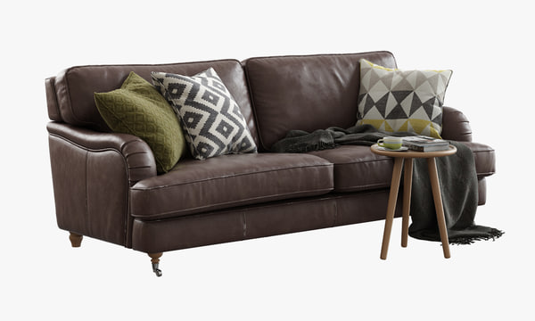 3d model sits howard three-seat sofa