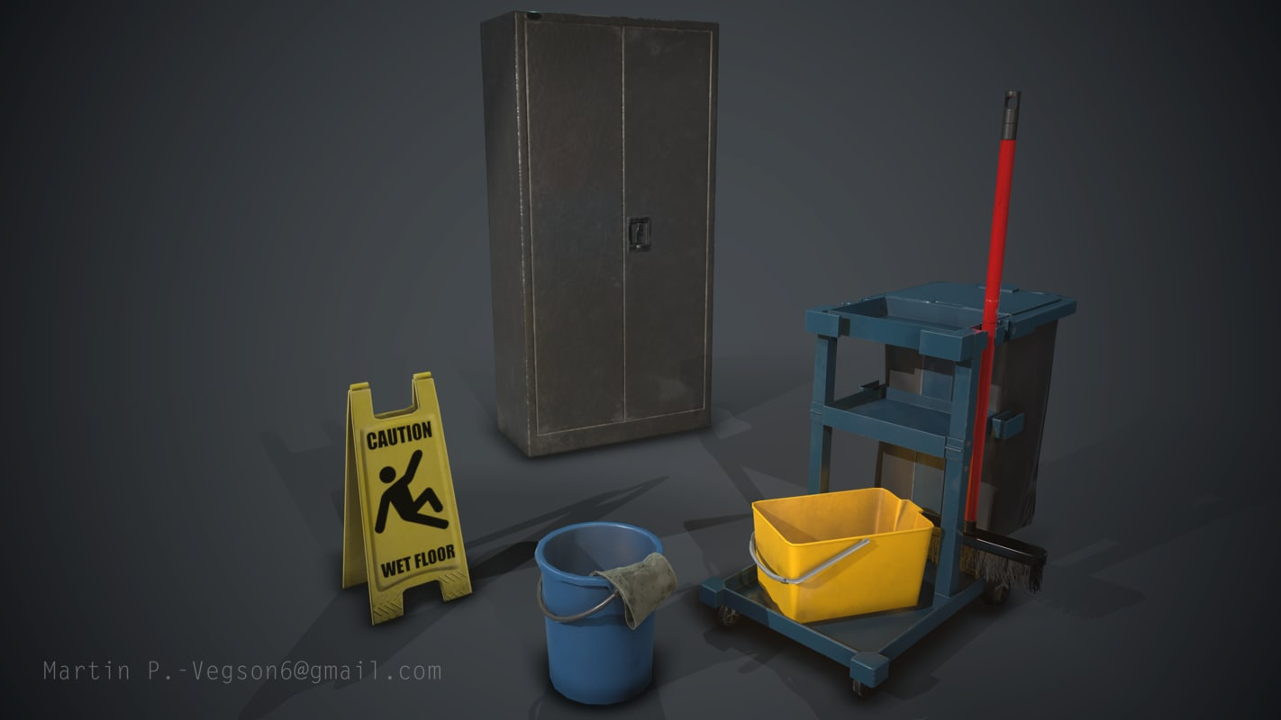 3d janitor assets packed 1