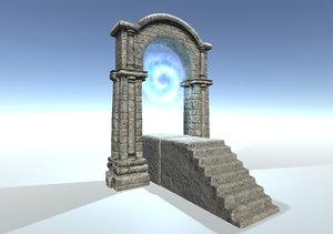 3d model stone gate