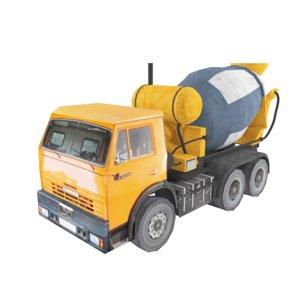 3d mixer truck model