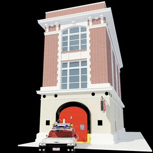 3d model ghostbuster s firestation