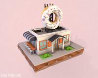 donut cafe 3d model