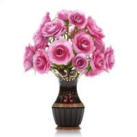 3d roses arranged vase