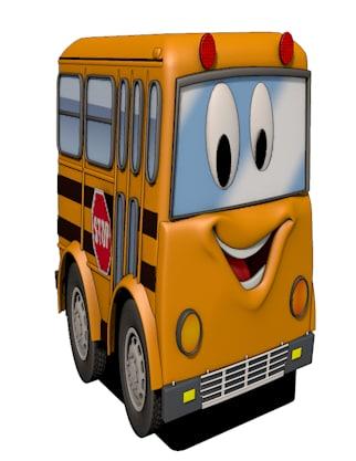 3ds bus kids flat